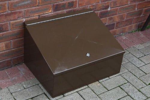 Semi sub metal meter box cover