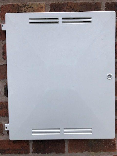 Meter box white MK1 British Gas Meter box